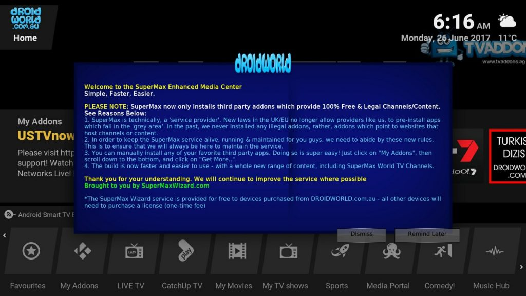 supermax wizard kodi addons installer build