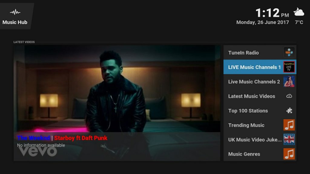 music tv kodi box stream free android player