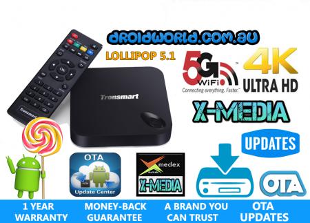 TRONSMART MXIII PLUS MX3 ANDROID TV BOX LOLLIPOP 5.1 AUSTRALIA KODI