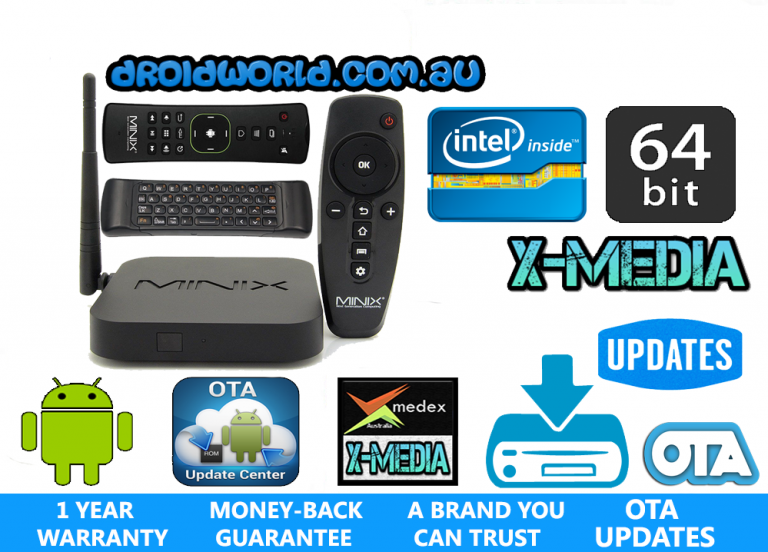 z64 android minix bundle neo a2 lite air mouse kodi box australia