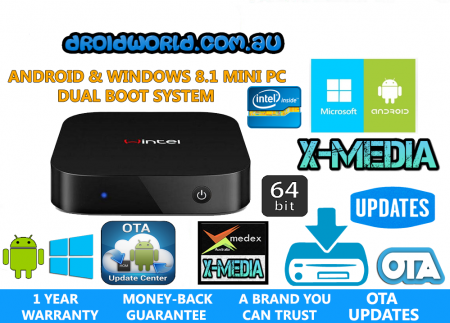 WINTEL W8 ANDROID KODI WINDOWS DUAL BOOT MINI PC BOX