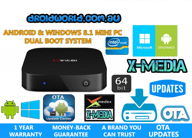 WINTEL W8 ANDROID KODI WINDOWS DUAL BOOT MINI PC BOX