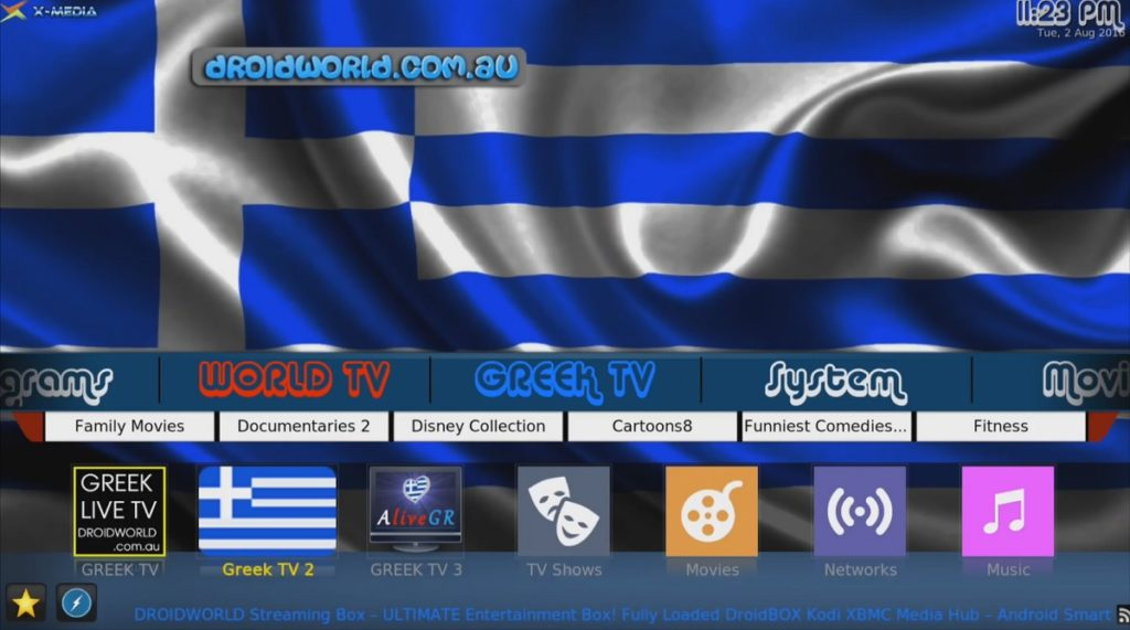 greek kodi addon watch channels box