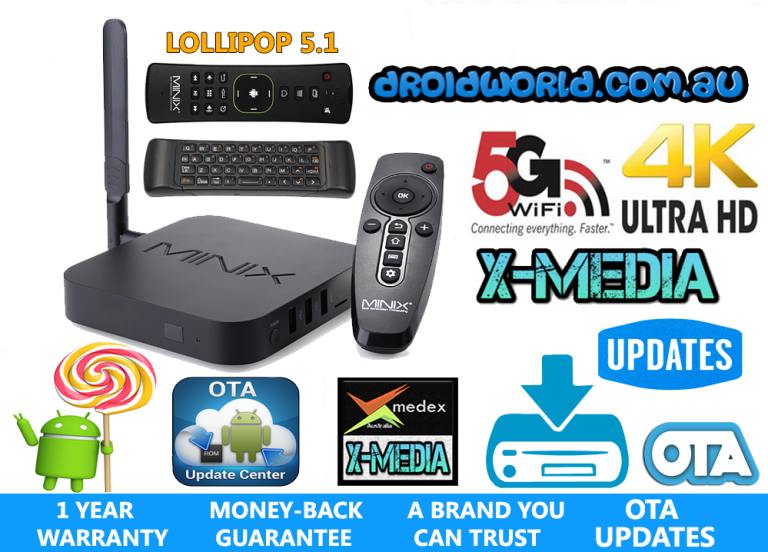 MINIX U1 bundle neo a2 lite air mouse S905 LOLLIPOP kodi TV BOX ANDROID