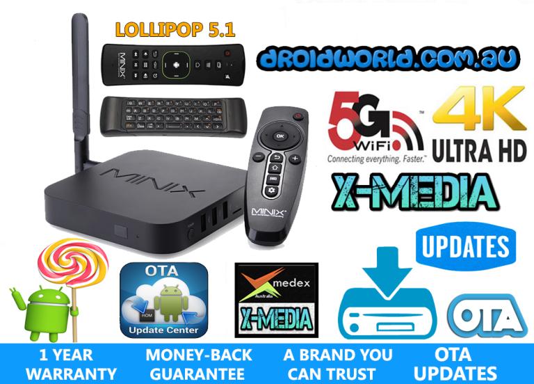 MINIX U1 bundle neo a2 lite air mouse S905 LOLLIPOP kodi TV BOX ANDROID