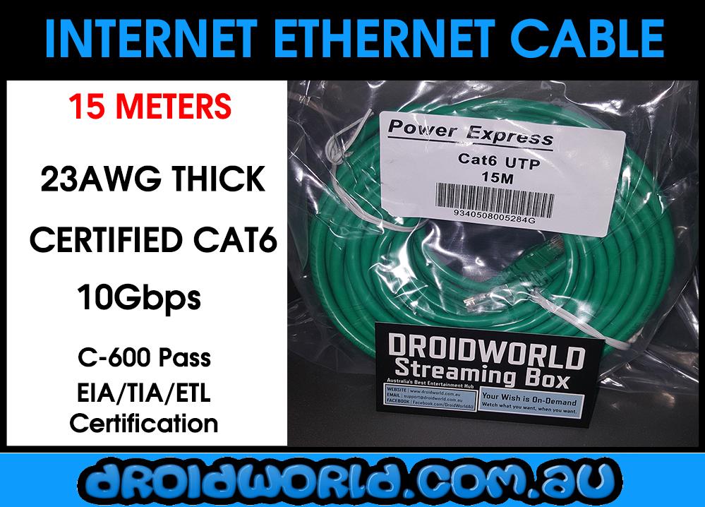 15m cat6 ethernet cable australia