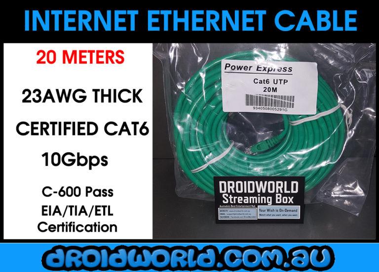 20m cat6 ethernet cable australia