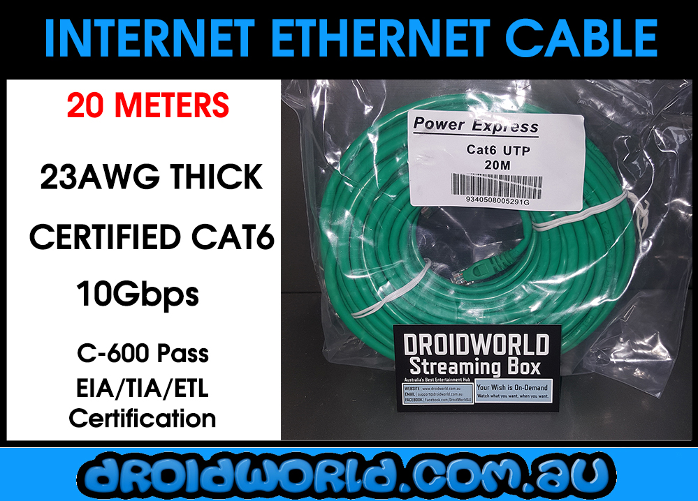 20m cat6 ethernet cable australia