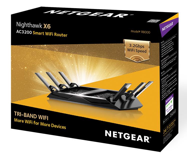 NETGEAR Nighthawk 3 2Gbps Tri-Band Smart WiFi Router NBN X6 R8000