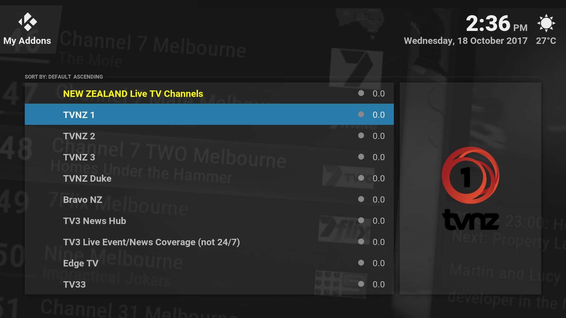 new zealand live tv channels streaming free to air australia